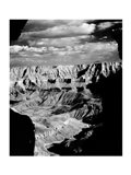 Grand Canyon National Park (wide angle, black & white) Art Print