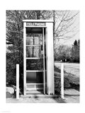 Telephone booth by the road Art Print