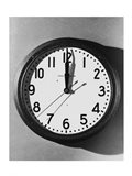 Close-up of a wall clock hanging on a wall Art Print