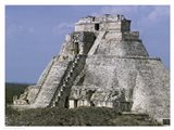 Mayan Pyramid of the Magician Uxmal Art Print