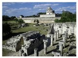 Old ruins of an observatory, Chichen Itza Art Print