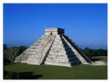 High angle view of a pyramid, El Castillo Art Print
