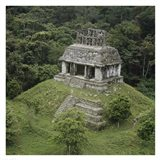 Temple of the Cross Palenque Art Print
