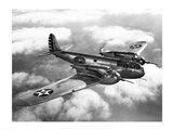 US Army fighter plane in flight Art Print