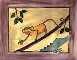Brown Monkey Art Print