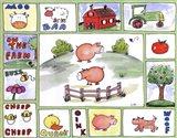 All Around the Barnyard- Pigs Art Print