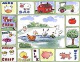 All Around the Barnyard - Ducks Art Print