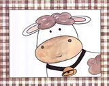 Here's Looking at You - Cow Art Print