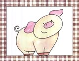 Here's Looking at You - Pig Art Print