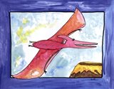 Flying Dino Art Print