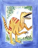 Rapping Raptor Art Print