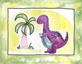Lil Purple Dino Art Print