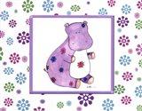 Groovy Hippo Art Print