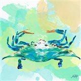 Watercolor Sea Creatures I Art Print