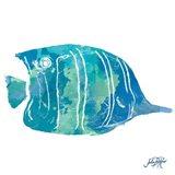 Watercolor Fish in Teal III Art Print