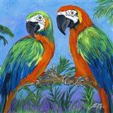 Island Birds Square I Art Print