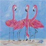 Fancy Flamingos II Art Print
