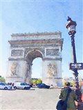 Watercolor Streets of Paris I Art Print