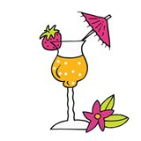 Tropical Drinks III Art Print