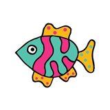 Whimsical Sea Creatures II Art Print