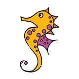 Whimsical Sea Creatures IV Art Print