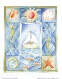 Seaside Boat Art Print