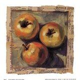 3 Yellow Apples Art Print