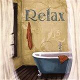 Relax - Blue Tub Art Print