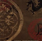 Asian Shield II Art Print