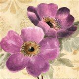 Pourpre Fleur II Art Print