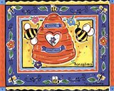 Honeybees Art Print