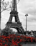 Eiffel Tower with Red Pop Art Print