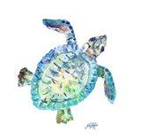 Sea Life In Blues I (turtle) Art Print