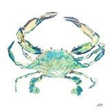 Sea Life in Blues II (crab) Art Print
