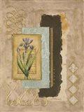 Metallic Iris II Art Print
