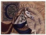 Carousel Horses I Art Print