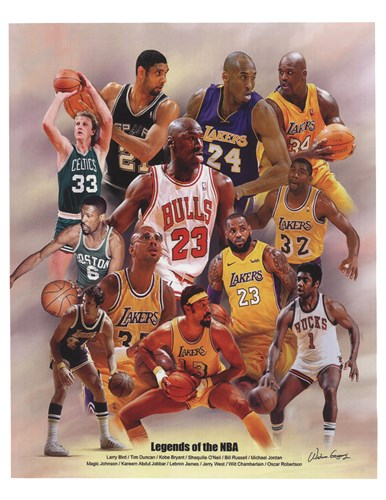 Legends of the NBA Art Print by Wishum