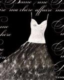 Robe de Soiree Blanche Art Print