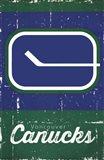 Vancouver Canucks - Retro Logo 13 Art Print