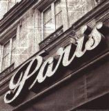Newsprint Paris Art Print