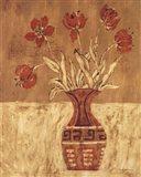 Batik Tulips Art Print
