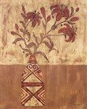 Batik Tiger Lilies Art Print