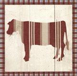 Americana Cow Art Print