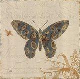 Natures Pattern II in Blue Art Print