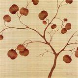 Autumn Leaves on Silk II Art Print